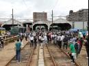 阪堺電車「路面電車まつり」 あびこ道車庫を開放