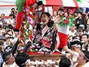 大阪三大夏祭り「愛染まつり」 初日恒例の宝恵駕籠パレード